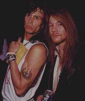 Axl Rose with Steven Tyler