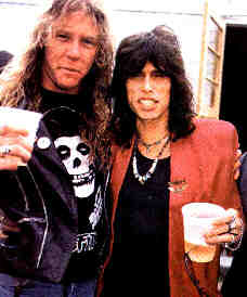 James Hetfield  with Steven Tyler ??